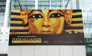 Tutankhamun billboard at the Melbourne Museum