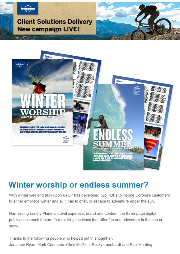 Corona - 'Winter Worship or Endless Summer?'
